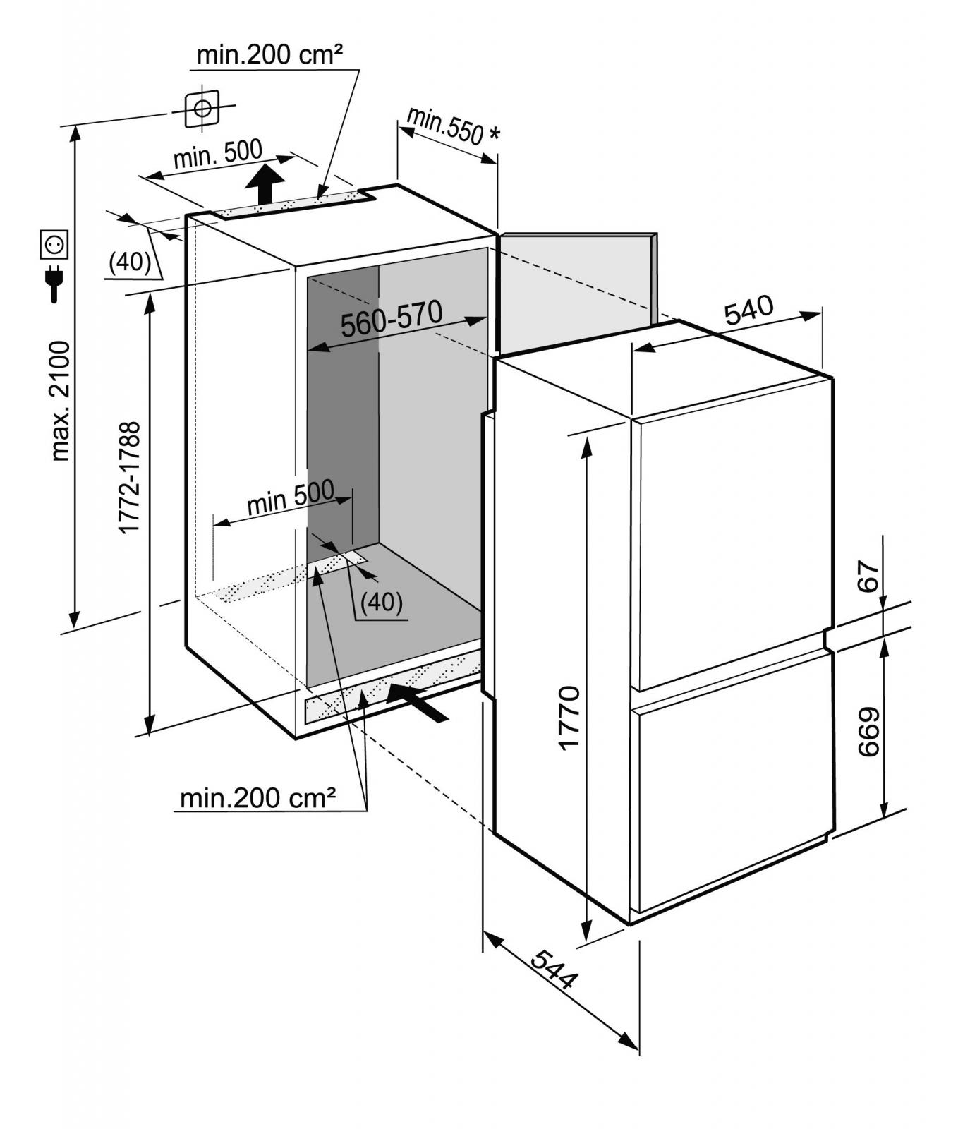 купить Встраиваемый двухкамерный холодильник Liebherr ICUNS 3324 Украина фото 6