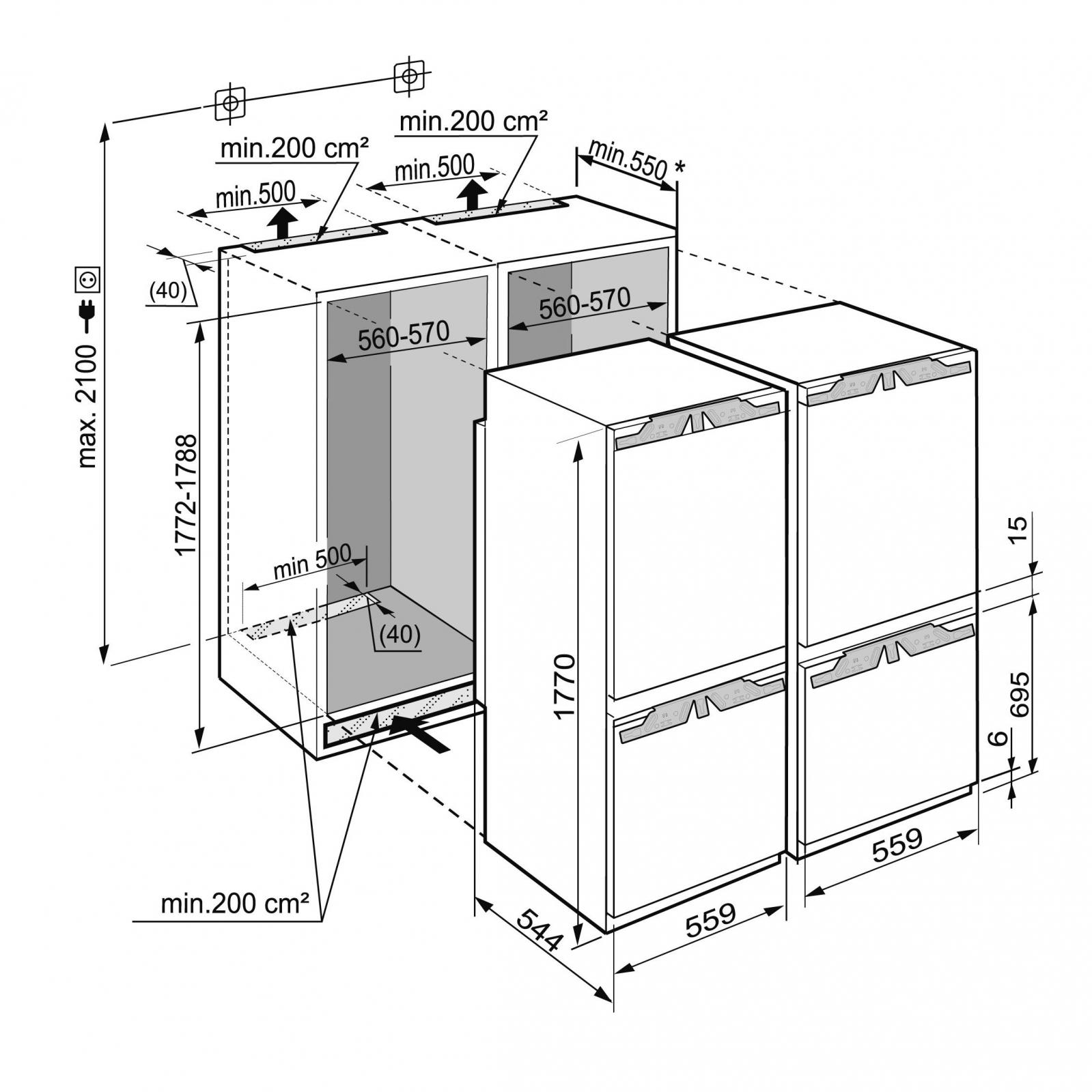 купить Встраиваемый холодильник Side-by-Side Liebherr SBS 66I2 Украина фото 10